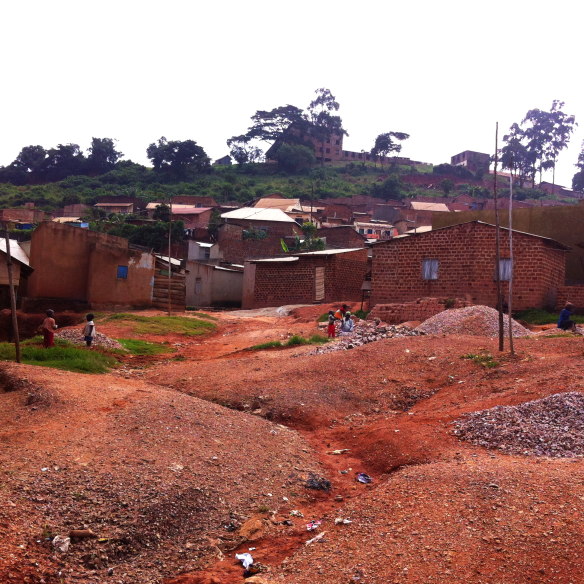 Homes on the outskirts of the Acholi Quarters. The community could be seen as self-contained, with schools, shops, clinics and bars within the small area.